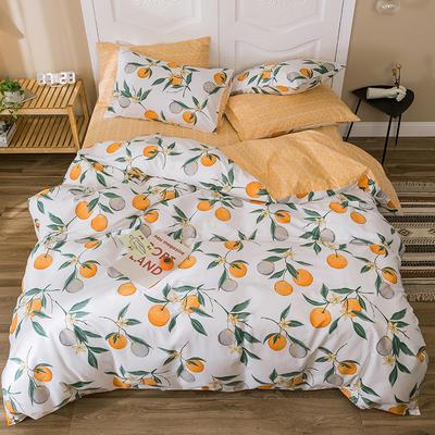 2019新款-全棉四件套 床单款四件套1.5m(5英尺)床 纳维尔