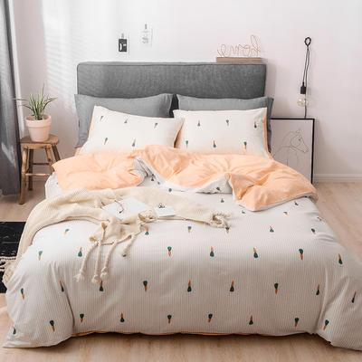2019新款-全棉四件套 床单款四件套1.5m(5英尺)床 翩翩起舞