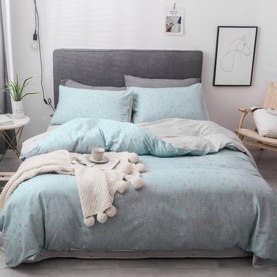 2019新款-全棉四件套 床单款四件套1.5m(5英尺)床 莎莉丝