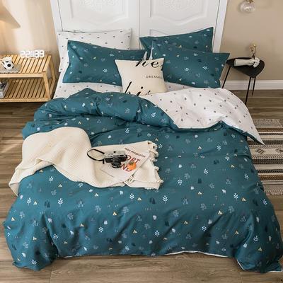 2019新款-全棉四件套 床单款四件套1.5m(5英尺)床 碎语