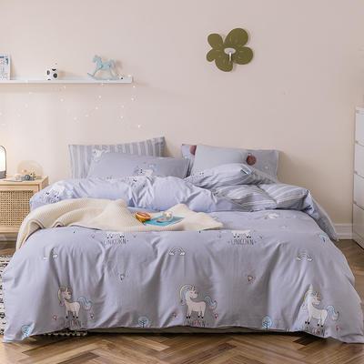 2019新款-全棉四件套 床单款四件套1.5m(5英尺)床 小马爱莉