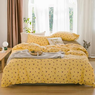 2019新款-13070全棉四件套 床单款三件套1.2m(4英尺)床 花枝摇曳
