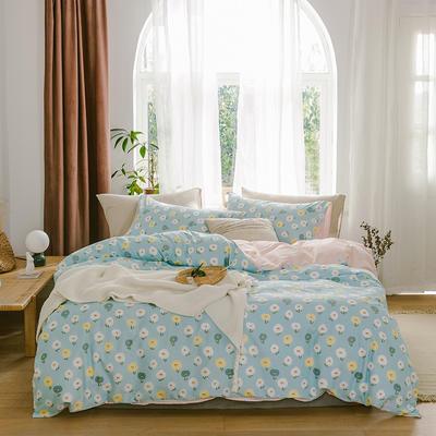2019新款-13070全棉四件套 床单款三件套1.2m(4英尺)床 清新世界