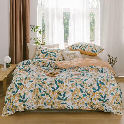 2019新款-13070全棉四件套 床单款三件套1.2m(4英尺)床 硕果盈枝