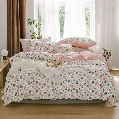 2019新款-13070全棉四件套 床单款三件套1.2m(4英尺)床 太阳花