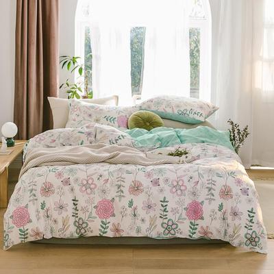 2019新款-13070全棉四件套 床单款三件套1.2m(4英尺)床 欣欣向荣