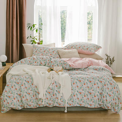 2019新款-13070全棉四件套 床单款三件套1.2m(4英尺)床 伊甸园
