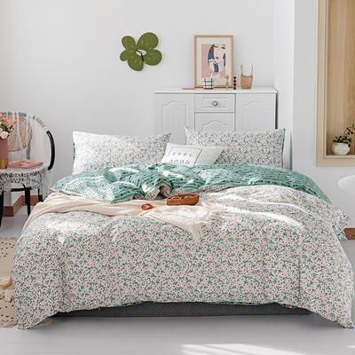 2019新款-13070全棉四件套 床单款三件套1.2m(4英尺)床 白茶