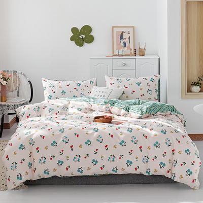 2019新款-13070全棉四件套 床单款三件套1.2m(4英尺)床 锦兰