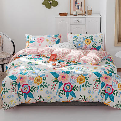 2019新款-13070全棉四件套 床单款三件套1.2m(4英尺)床 小洛城