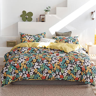 2019新款-13070全棉四件套 床单款三件套1.2m(4英尺)床 虞美人
