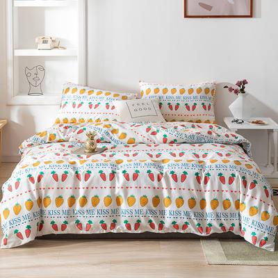 2020新款-13070全棉四件套 床单款三件套1.2m(4英尺)床 波西萝卜
