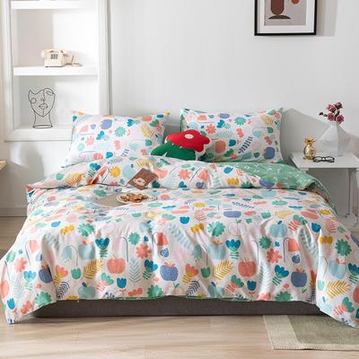 2020新款-13070全棉四件套 床单款三件套1.2m(4英尺)床 春晓