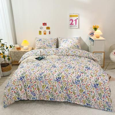 2021新款-全棉四件套 1.5m床单款四件套 花都益彩