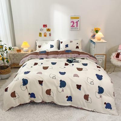 2021新款-全棉四件套 1.5m床单款四件套 奇幻小熊