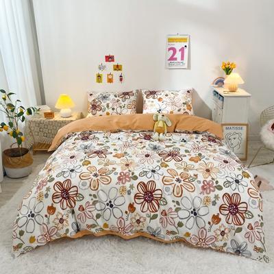 2021新款-全棉四件套 1.5m床单款四件套 雅颂