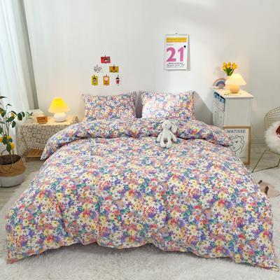 2021新款-全棉四件套 1.2m床单款三件套 紫色浪漫