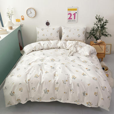 2021新款-全棉印花四件套 1.5m床单款四件套 小束花