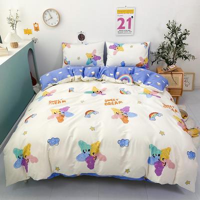 2021新款-全棉印花四件套 1.5m床单款四件套 涂鸦彩虹
