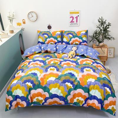 2021新款-全棉印花四件套 1.5m床单款四件套 涂鸦熊