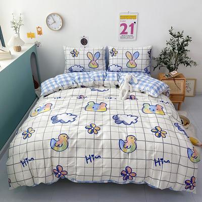 2021新款-全棉印花四件套 1.5m床单款四件套 云朵熊