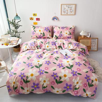 2021全棉印花四件套 1.5m床单款四件套 姹紫嫣红