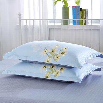 12868枕套 梅花朵朵蓝