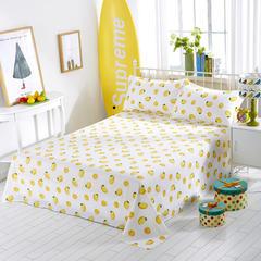 单品系列12868单床单 100*200cm0.9-1.0米 一棵柠檬A