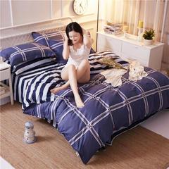 全棉12868多规格四件套 1.0-1.2床(四件套) 玛格丽蓝