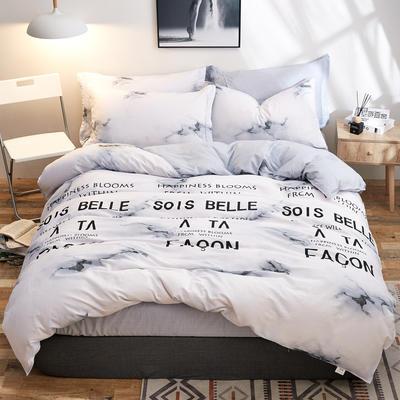 2018新款全棉12868多规格四件套 1.0m(3.3英尺)床三件套 大理情缘