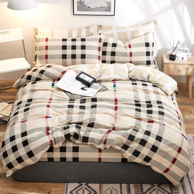 2018新款全棉12868多规格四件套 1.0m(3.3英尺)床三件套 多拉