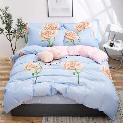 2018新款全棉12868多规格四件套 1.0m(3.3英尺)床三件套 克洛怡