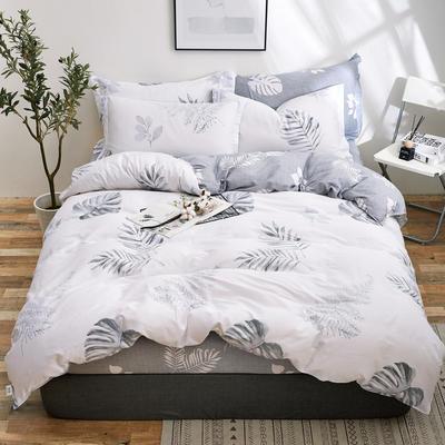 2018新款全棉12868多规格四件套 1.0m(3.3英尺)床三件套 曼妙花影