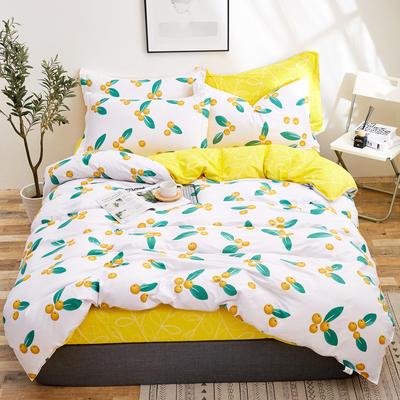 2018新款全棉12868多规格四件套 1.0m(3.3英尺)床三件套 枇杷果