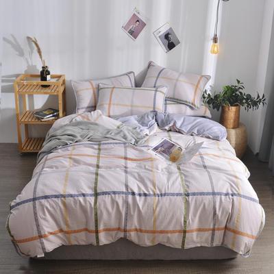 2018新款A版水洗棉B版水晶绒的四件套 1.2m(4英尺)床三件套 安多斯