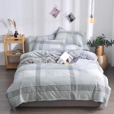 2018新款A版水洗棉B版水晶绒的四件套 1.2m(4英尺)床三件套 古典
