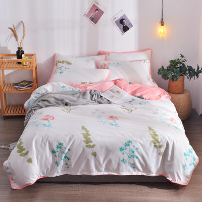 2018新款A版水洗棉B版水晶绒的四件套 1.2m(4英尺)床三件套 倾心