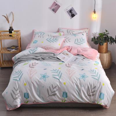 2018新款A版水洗棉B版水晶绒的四件套 1.2m(4英尺)床三件套 斯曼