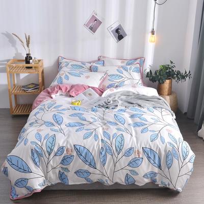 2018新款A版水洗棉B版水晶绒的四件套 1.2m(4英尺)床三件套 苏拉