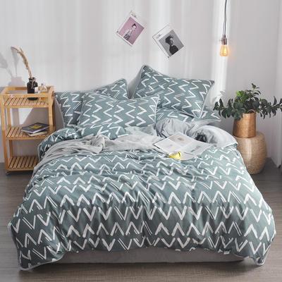 2018新款A版水洗棉B版水晶绒的四件套 1.2m(4英尺)床三件套 薇薇安