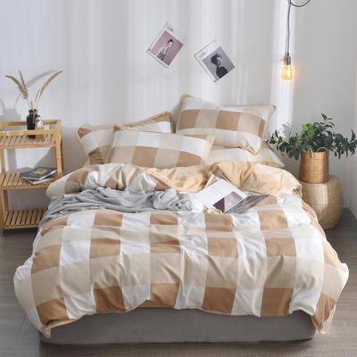2018新款A版水洗棉B版水晶绒的四件套 1.2m(4英尺)床三件套 维斯格