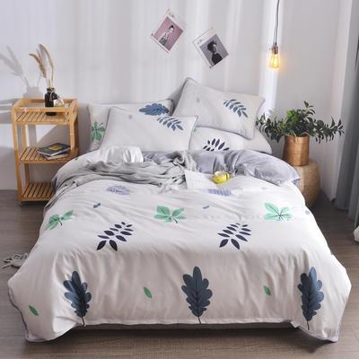 2018新款A版水洗棉B版水晶绒的四件套 1.2m(4英尺)床三件套 叶诺
