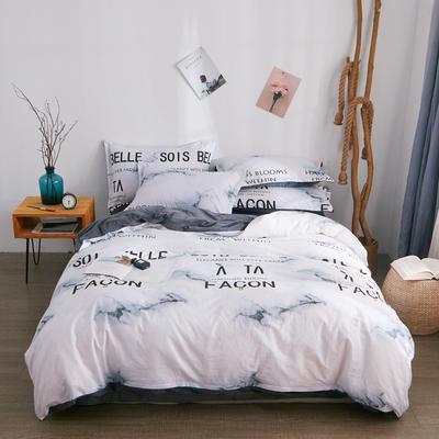 2018新品A版全棉B版水晶绒四件套 1.2m(4英尺)床三件套 大理情缘