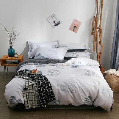 2018新品A版全棉B版水晶绒四件套 1.2m(4英尺)床三件套 曼妙花影