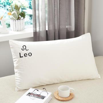 2019新品全棉水洗棉十二星座枕套
