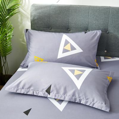 2019新款芦荟棉枕套 48cmX74cm/对 几何元素