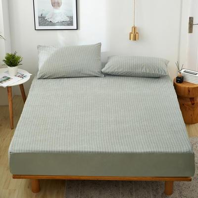 2019新款全棉毛巾布防水床笠 枕套48*74cm/对 灰色