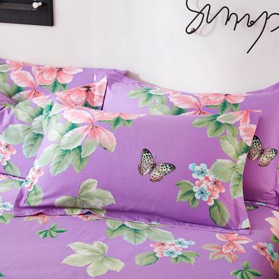 2019新款全棉12868单品枕套(2) 48cmX74cm/对 梅琳达紫
