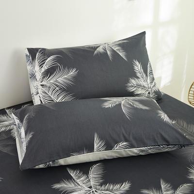 2020新款13372新疆长绒棉单品枕套 48*74cm/只  口袋枕套 枫叶