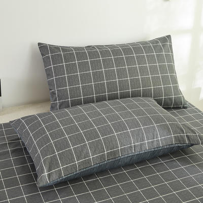 2020新款全棉13070单品枕套 48*74cm/对  口袋枕套 拉蒂